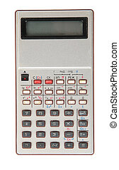 old dirty obsolete calculator