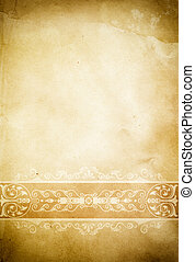 Old dirty paper background with vintage border.