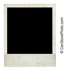 Old Dirty Polaroid Frame Front Side with Clipping Path