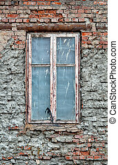 old dirty window