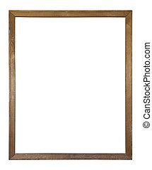 Old dirty wooden picture frame