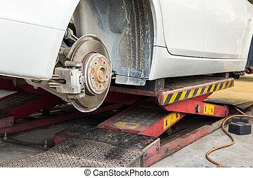 disc brake on car