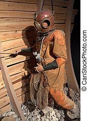 Old diver's suit