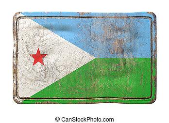 Old Djibouti flag