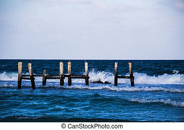 Old dock and sea photograph - Photograph of an old dock in ...