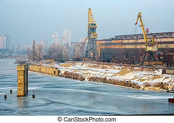 Old Docks and cranes