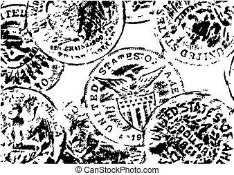 old dollars illustration isolated on the white background