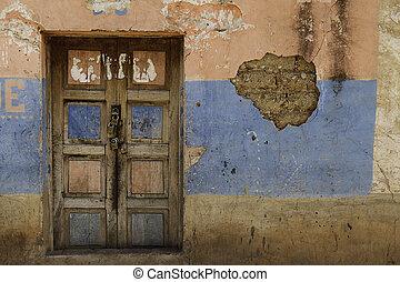 old door 4 locks