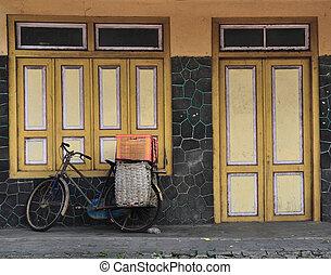 Old Door and Bike