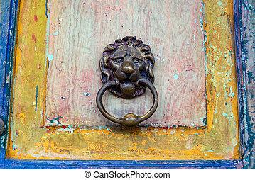 Old Door and Door Knocker