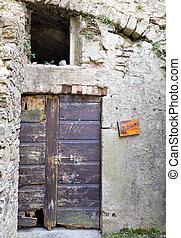 old door broken
