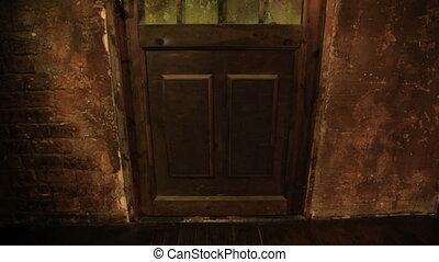 Old door close-up view.