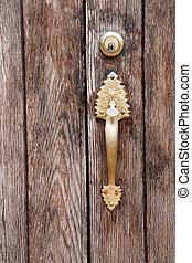 Old door handle vertcal