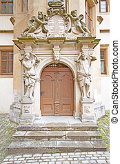 Old door in a German village