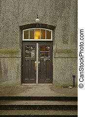 old door in a sandstone building