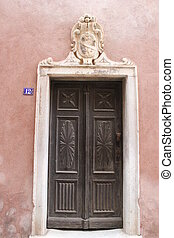 Old door in Bonifacio
