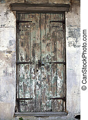 Old Door in French Quarter of New Orleans.