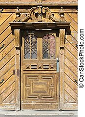 Old door in Hungary - Szeged, Hungary. City in Csongrad...