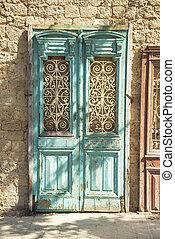 old door in jersusalem israel