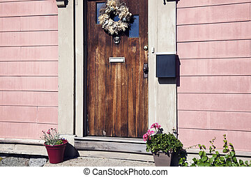 Old door in Salem