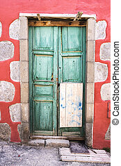 Old door in small village of Gran Canaria, Spain