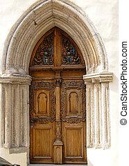 Old door in Tallinn, Estonia