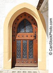 Old door in the Neuchatel Castle, Switzerland
