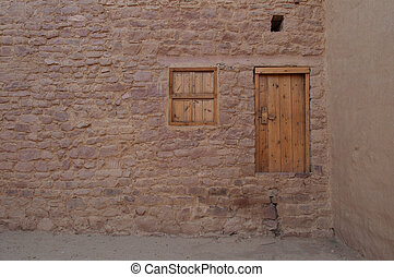 Old door in the old city of Al Ula, Saudi Arabia