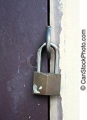 Old door keyhole