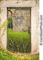 old door of a castle