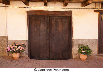 Old door of a Spanish house