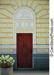 old door on street