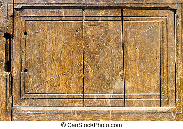 Old door panel