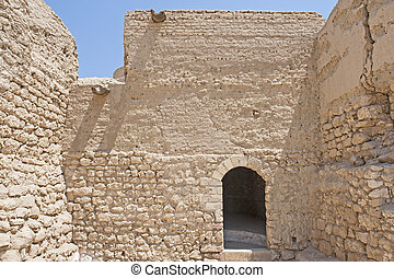 Old doorway in ancient ottoman fort - Ancient old walls and...