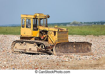Old Dozer - Old dozer at a construction site
