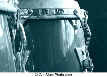 Old Drums - Set of conga drums monochrome
