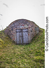 Old dug-out building