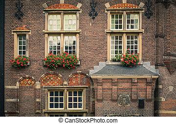 Old dutch building in Amsterdam