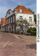 Old dutch mansion in the historic center of Monnickendam