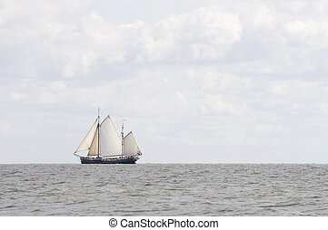 Old Dutch sailing boat