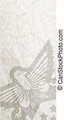 Old eagle paper
