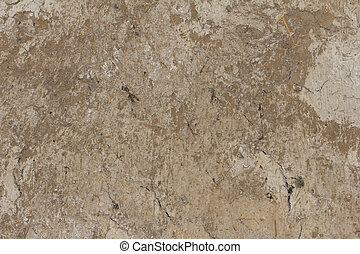 old earthen wall as background