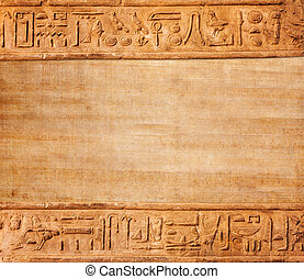 old egypt hieroglyphs with place for text