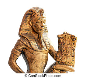pharaoh - old Egyptian pharaoh Statue