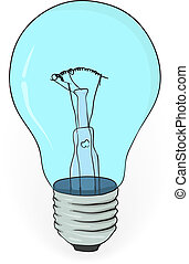 Old electric bulb - vector illustration eps8
