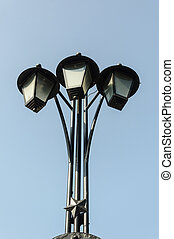 Old electric street lamp