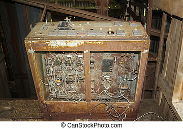 Old electrical control panel