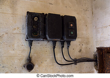 Old electrical fuse box - Old aged electrical fuse box