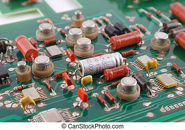 Old electronic circuit board