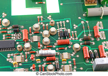 Old electronic circuit board